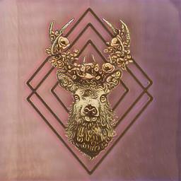 rosequartzmagiceffect deerhead freetoedit