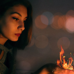 freetoedit flame bokeh remix picsart