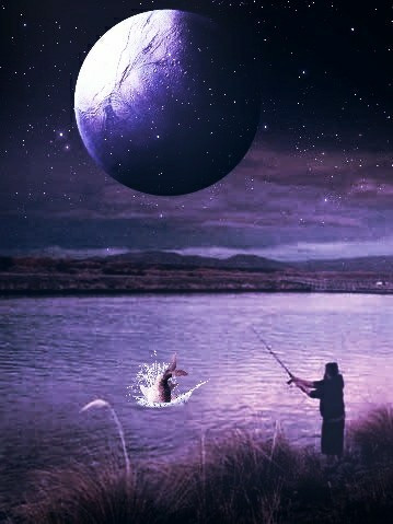 Good Evening🤗 Original image from @tazzz016 #vipshoutout #madewithpicsart #editstepbystep #stickers #purple #landscape #fishing #nature #myedit #photomanipulation