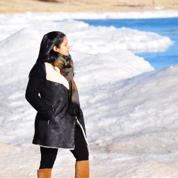 snow ice lakemichigan photography travel