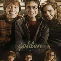 goldentrio always harrypotter hermionegranger ronweasley