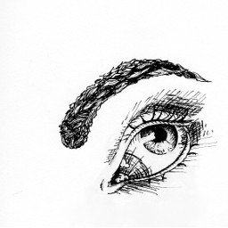 sketch eye art drawing