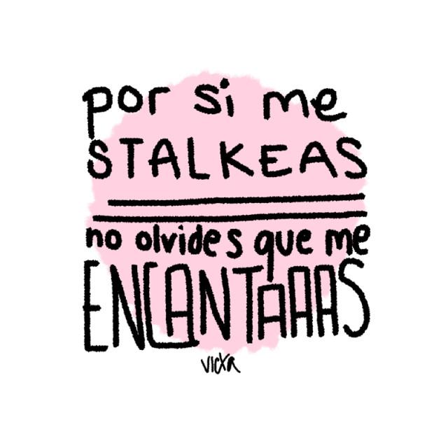 Stalker. #art #aunquenotelopuedodecir #indirecta #stalker #peace