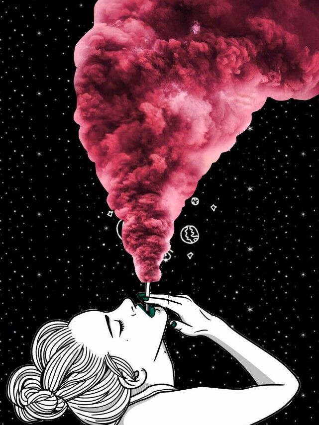 smoke girl tumblr look wallpaper collage wallpapers art...