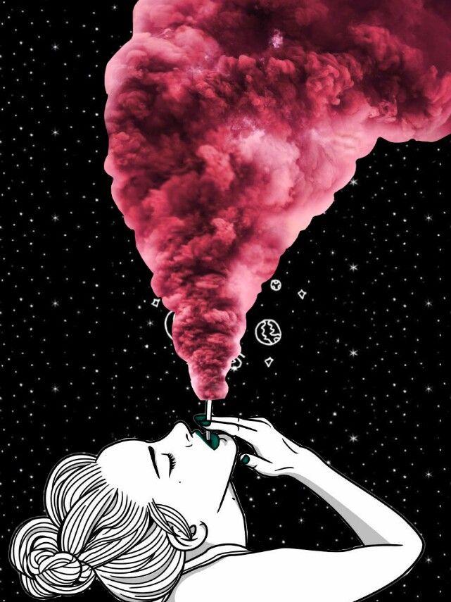 Smoke Girl Tumblr Look Wallpaper Collage Wallpapers Art