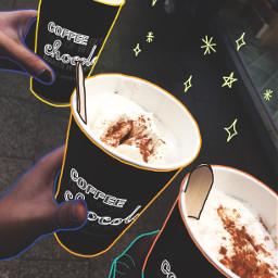 colorfuloutline freetoedit hotchocolate chocolate coffee
