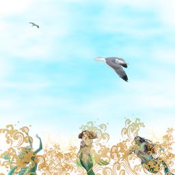 freetoedit stickerart fantasyart fantasy mermaids
