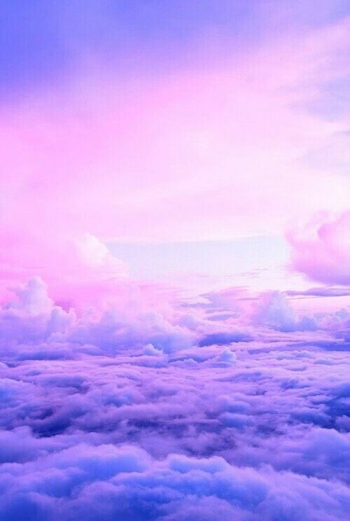 purple lavender clouds sky aesthetic