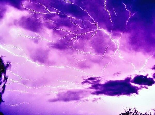 Purple Thunderstorm Lightning Aesthetic