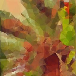 polygoneffect polygonart polygon palmtree colorful