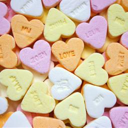 freetoedit heart hearts confetti candy