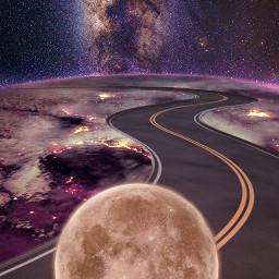 moon strongman purple planet milkyway