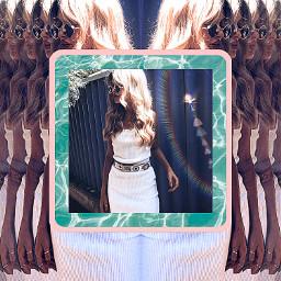 remixed fashion blonde summer multiply freetoedit