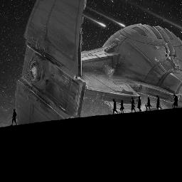 freetoedit lillobalillo blackandwhite b starship