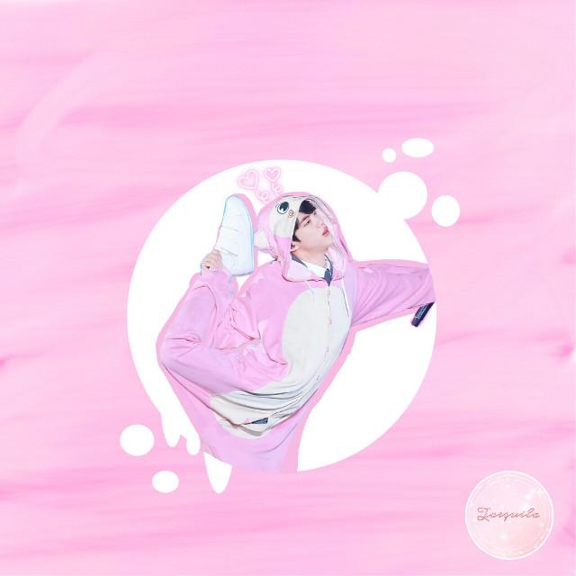 I hope you like it ♡࿐ #jin #bts #btsjin #pinkandgreen #edit #cute #kigurumi #kpop #kawaii
