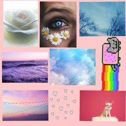 freetoedit cute peachy collage tumblr