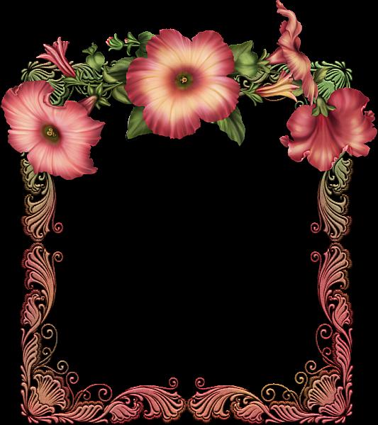 Floral Frame Victorian Shabbychic
