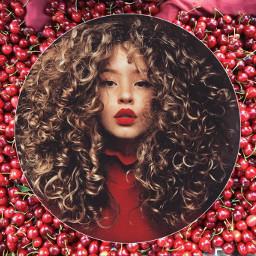 curly curls rizos fashion cerezas