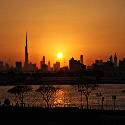 freetoedit dubai sunset
