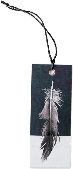 bookmark feather string tag sticker freetoedit
