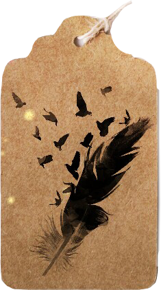 bookmark feather brown tag freetoedit