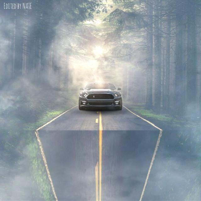 #road #car #myedit #foldinglandscape (Photo of car by Joey Banks on Unsplash) *not free to edit*