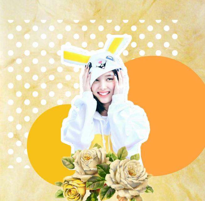 Nayeon 😋😍❤️ #nayeon #nayeontwice #twice #once #kpop #yellow #orange #onsie #bunny #freetoedit