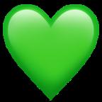 iphone emoji heart green - 671.7KB