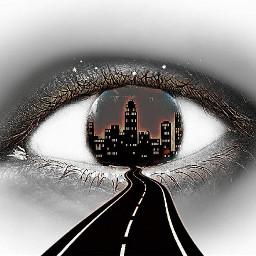 freetoedit eye cityscape road myedit