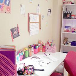 pcmyworkdesk myworkdesk myroom roomdecor pink