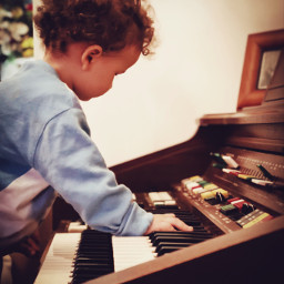 portrait music child