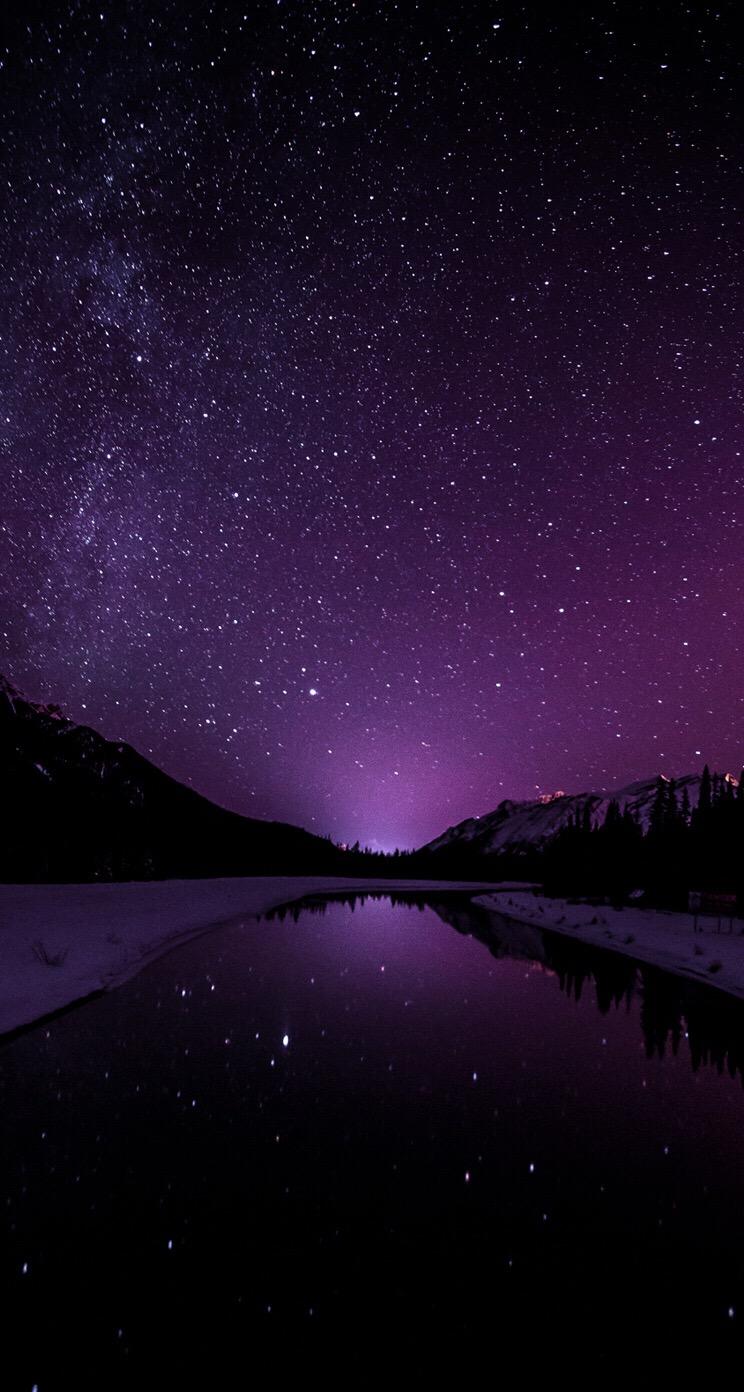 Galaxy Wallpaper Dark Purple