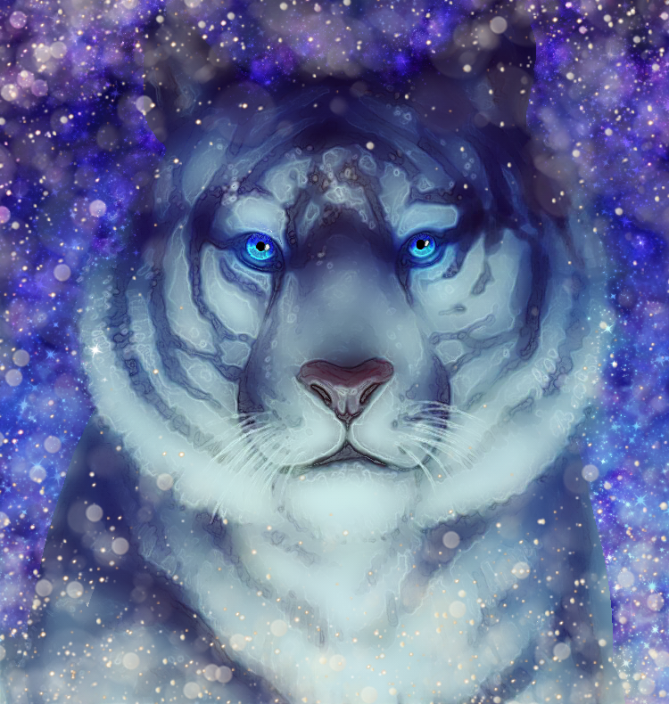 Galaxy Colorful Tiger Wallpaper