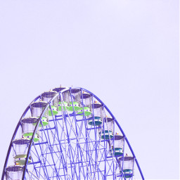 ferriswheel freetoedit purple limegreen huechange