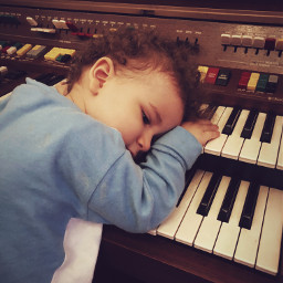 portrait music child baby