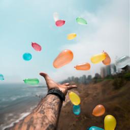 freetoedit hand people balloon colorfull