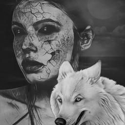 darkart darkness wolf shapemask myartwork artisticselfie