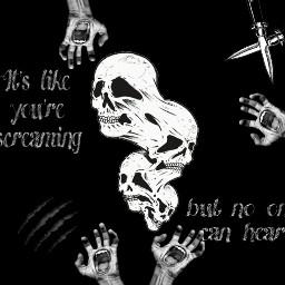 goth emo dark scream grunge freetoedit