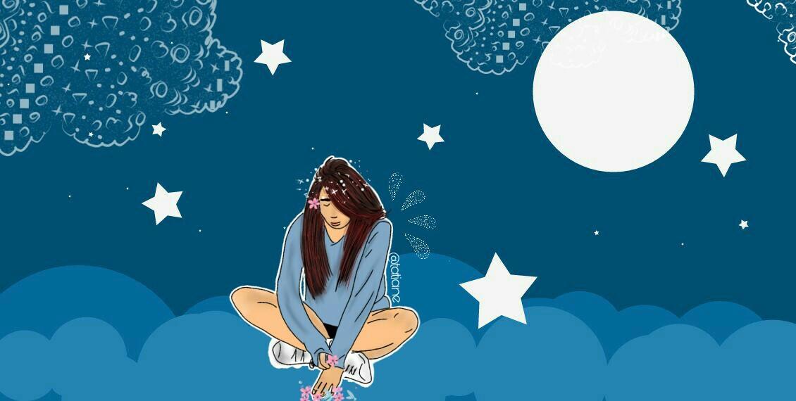 #freetoedit #sky #girl #stars #flowers #people #overlays