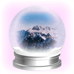 freetoedit myoriginalsticker madewithpicsart snowglobe snow background mountain mountainpeak clouds remixed