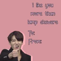 jungkook kookiebts valentinescards valentinesday2018