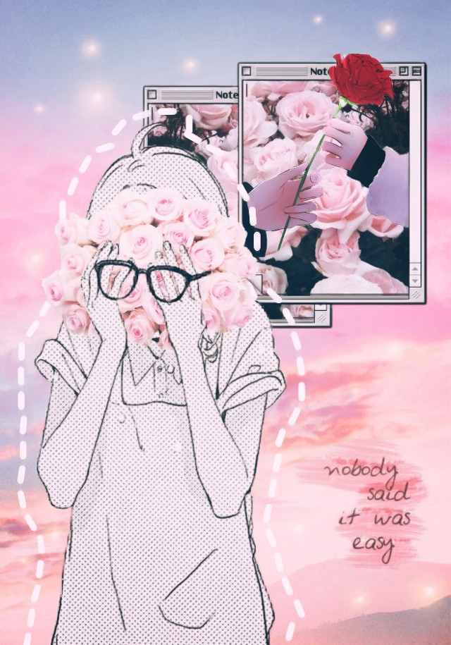 It's Valentine's day 💕 And I'm sorry if the edit it's pretty sad I had a heartbreak two or three months ago and I'm still pretty sad... But don't worry, I wish you a happy Valentine's day (•̀ᴗ•́)و💘 #freetoedit #cute #kawaii #anime #manga #animegirl #pink #happyvalentinesday #love #heartbreak #rose #sky #pastel #tumblr #aesthetic #kawaiigirl