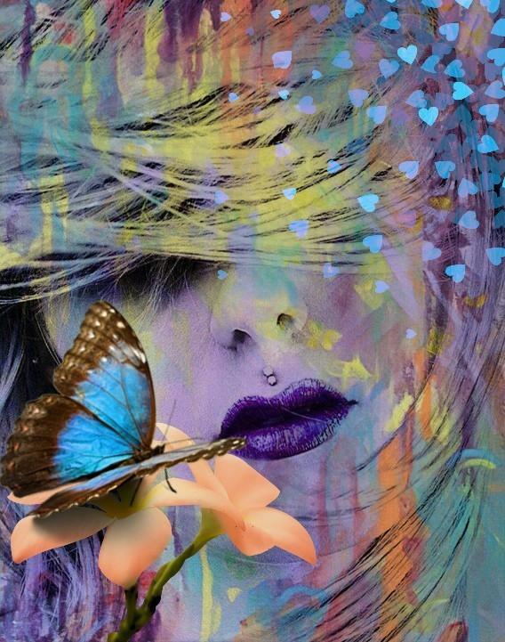 #freetoedit #hearts #heartstickers #colorful #butterfly #flower