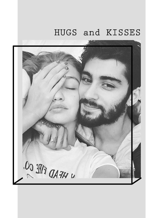 #freetoedit 👉🏼 #ZiGi #Zayn #GigiHadid #ValentinesDate #HugsAndKisses #Hugs #and #Kisses #BlackAndWhite 💋 @pa