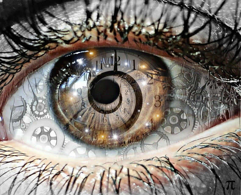 """Time In My Eyes"" Edit by: Parietal Imagination #eye #clock #gears #freetoedit  #fx #magiceffects #lashes #pupil #pa #picsart"
