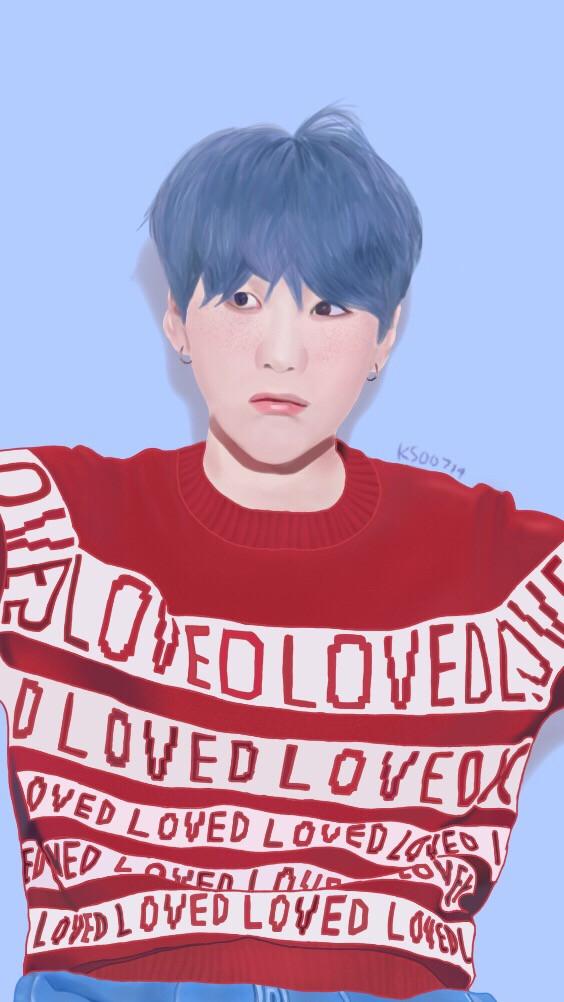 Yoongi ❤️ ~ for @bluelephant02 Sorry it took a while but I hope you like it!!   #minyoongi #suga #yoongi #bts #mydrawing #drawing #edit #kpop #bangtansonyeondan #painting