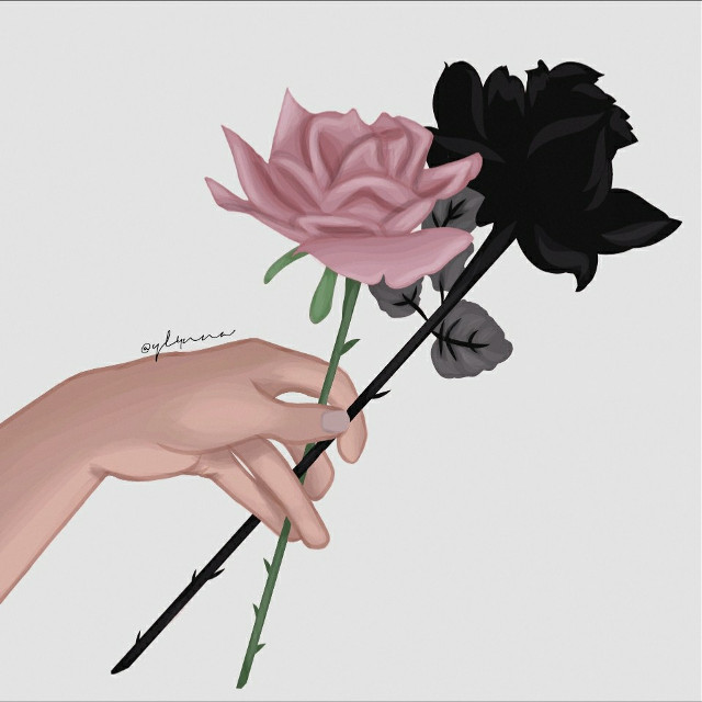 In life there are two types of people #flowers #black #pink #drawing  #freetoedit