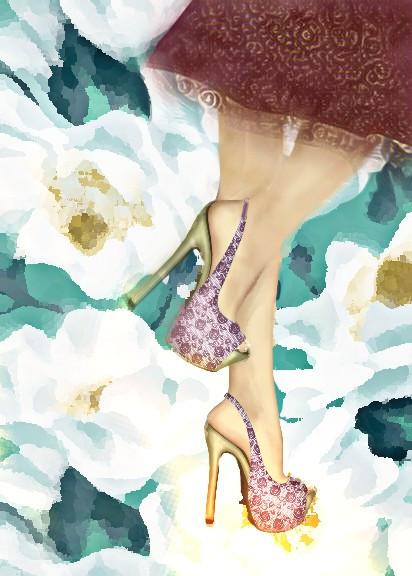 #freetoedit #floralbackgrounds #heels #skirt #fashion #woman #lady #draw #blureffect #rosegoldmagiceffect #oileffect #hdr1 #nofeature