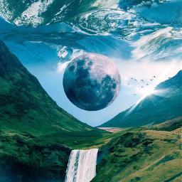 digitalart art design moon surreal day daytime