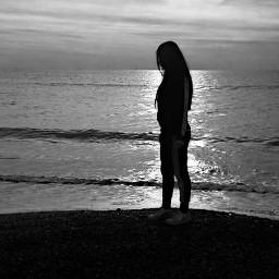 colddays syria beach blackandwhite